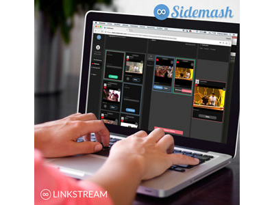 Sidemash launches Linkstream, the first virtual video editor