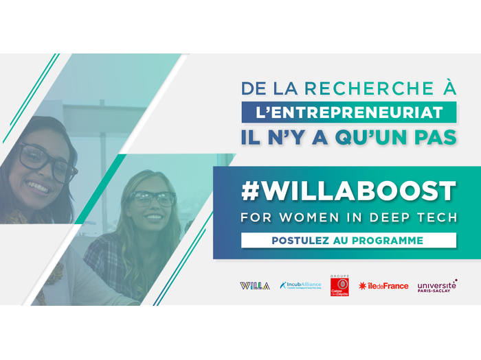 IncubAlliance and WILLA launch call for projects for the WILLA Boost for Women in Deep Tech